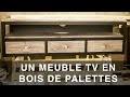 Meuble TV en bois de palettes