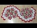 Tuto chemin de table fleures au crochet 2/2