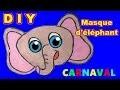 Masque d'éléphant : Fabrication masque d'animaux pour Carnaval