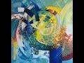 Claudine Menou, création d'une toile abstraite
