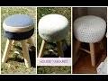 DIY français Tuto housse tabouret au crochet à faire soi-même / Crochet stool cover