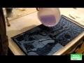 Vitrification avec la resine epoxy sur une toile peinte