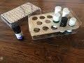 DIY aromatheÌ€que ou boîte pour huiles essentielles