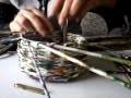 Tuto Eco Vannerie en papier : fin du panier