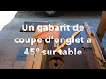 Coupe onglets 45°