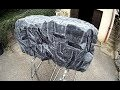 Faux rocher en polystyrène extrudé