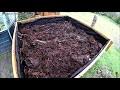 remplissage d' un bac potager suréléve et plantation de salade