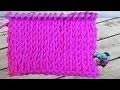 Crochet tunisien : Point jersey