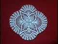 Crochet Oval Pineapple Lace Doily Part 1
