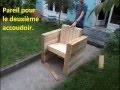 FACILE : Fabriquer votre fauteuil de jardin | intérieur en bois de palette