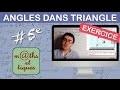 EXERCICE : Calculer des angles dans le triangle - Cinquième