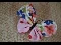 comment utiliser ses restes de tissus broches papillons  ☆ Couture Tutoriel  LOISIRS CREATIFS