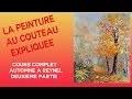 Automne a Reynel  2/2-  Cours de peinture au couteau par Pascal Clus