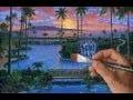 Comment Peindre Piscine Cours Complet Chute D'eau Paysage Tropical Acrylique Toile