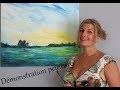 Peindre un paysage à l'acrylique - speed painting