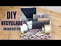 DIY recycler un colis pour faire un rangement bureau