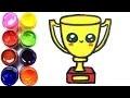 Comment dessiner un trophée| Dessin facile | Dessin a colorier