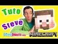 (TUTO) Minecraft - Comment faire le Masque tête de Steve - Démo Jouets