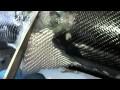 Fabrication d'un garde boue de moto en carbone