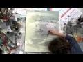Time lapse painting : Peinture Minimaliste Collages acrylique . Artiste Aix en Provence
