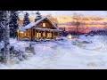 Belle musique zen/relaxation sous la neige, près d'un chalet en hiver - F. Amathy