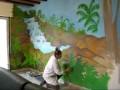 fresque murale salon nov 2010 Cascade & tropiques IzA.wmv