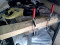 Fabrication de pales en bois pour une petite éolienne.