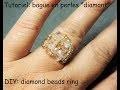 "Tutoriel: bague en perles ""diamant"" (DIY: diamond beads ring)"