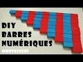 DIY | 🔢 Les barres numériques rouges et bleues MONTESSORI | Fabrication | Mathématiques