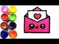 Comment dessiner une lettre Kawaii| Dessin facile | Dessin a colorier