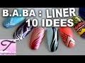 10 tutos nail art rapide au vernis liner pour débutants #1