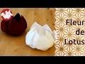 Origami - Fleur de lotus - Lotus Flower [Senbazuru]