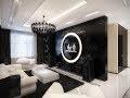 decoration de salon en noir et blanc