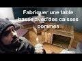 Comment fabriquer Table 4 caisses pommes by MAKER  ADOPTEUNECAISSE