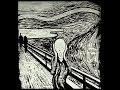"""Reproduction du tableau """"Le Cri"""" de Munch sur une fenêtre par MrAnalphabeat"""