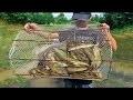 Drole - Incroyable comment faire piège pour attraper le poisson |   Pêche traditionnelle au khmer |
