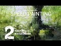 2-DÉMO : SOUS-BOIS / UNDERGROWTH (Aquarelle) SPEED PAINTING