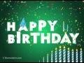 """Carte d'anniversaire Dromadaire : """"Happy Birthday lettres animées"""""""