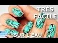Tuto Nail Art: Pierre Turquoise (vernis sur l'eau)