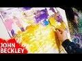 Tableau Abstrait - Démonstration peinture acrylique au couteau   Linéal
