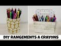 DIY 2 rangements pour vos crayons en carton