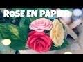 Comment faire une ROSE en papier (Tres facile)