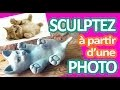 [TUTO ARGILE SANS CUISSON] sculptez un petit chat à partir d'une photo pottery ceramic clay