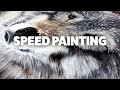 THE LITTLE FRENCH BERET - SPEED PAINTING - WOLF OIL PAINTING