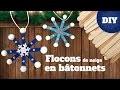 DIY Noël - Fabriquer des flocons de neige avec des bâtons de glace
