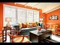 decoration de salon couleur orange