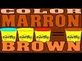 Comment faire du Marron en Pate a Modeler Fimo Play Doh