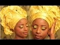 ♥♥ Collaboration Queen Of Africa  -Tuto Comment Attacher Son Gele Nigerien Facilement♥♥