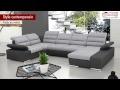 Canapé d'angle convertible BOILEAU en tissu et simili