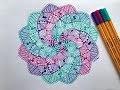 TUTO mandala pastel en spirale